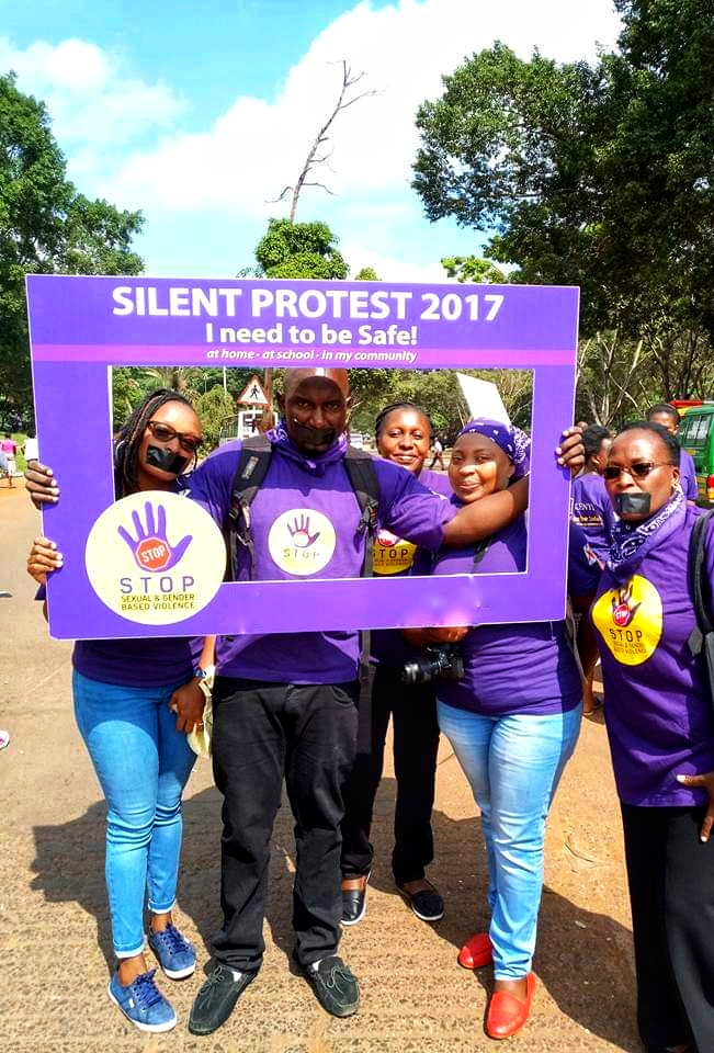 GBV silent protest