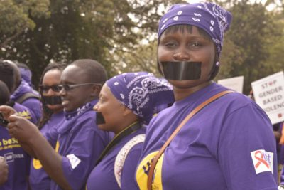 GBV Silent protest March